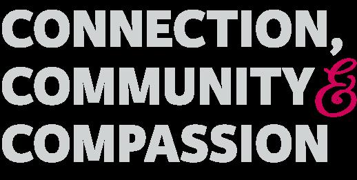 Connection Community Compassion Title